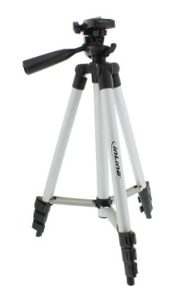Treppiedi telescopico 360 - 1060mm, alluminio, cavalletto fotocamere e videocame
