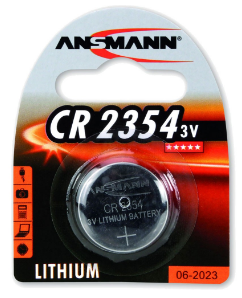 Batteria Bottone Litio, CR 2354, 3V, Blister 1pz (Ansmann 1516-0012)