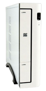 PC Case Mini-ITX LC-Power 1370WII bianco USB 3.0 Inc. Alimentatore 90W LC90ITX