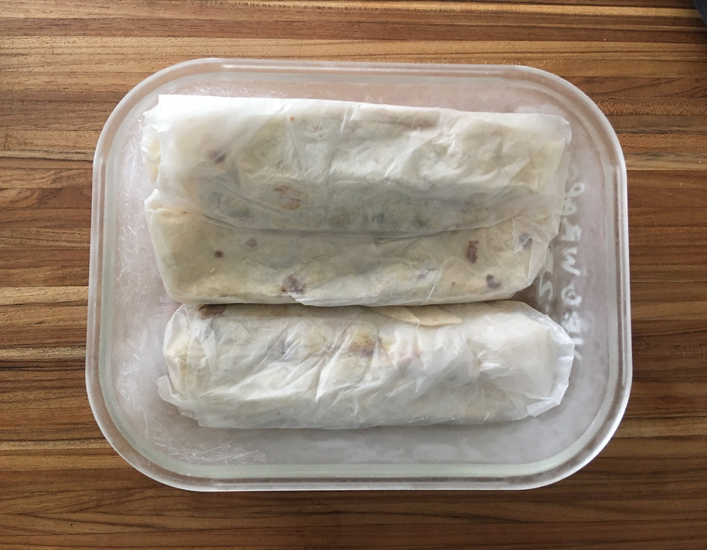 individually wrapped meal prep lunches tortillas