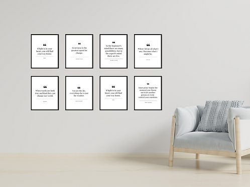 Wise Quotes - 46 Prints!