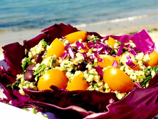Bulgur Salad with Spicy Black Beans and Fresh Herbs