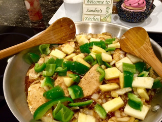 Ginger Chicken, Green Pepper, Pineapple