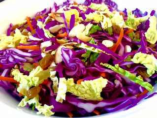 Red Cabbage Pumpkin Maple Slaw