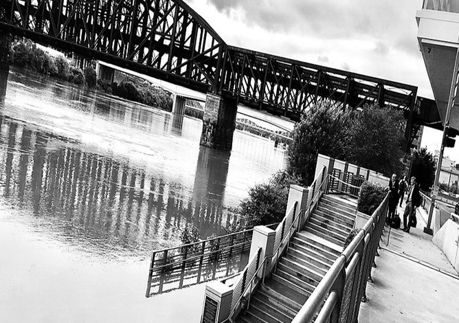 """""""You shall find out how salt is the taste of another's bread, and how hard is the way up and down another's stairs."""" DANTE ALIGHIERI  Riverfront Plaza, Pittsburgh"""