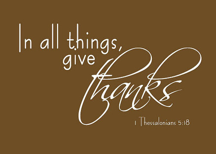 Let's give thanks.