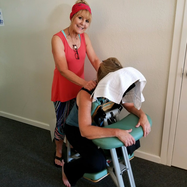 Teri doing her back massages!
