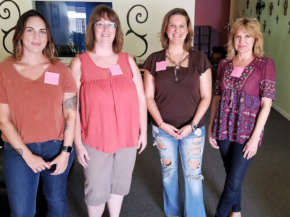 A few of our front desk team members. We're missing Kyrsten, Ashleigh, and Candace. From left: Sarah, Debbie, Síca, and Robin