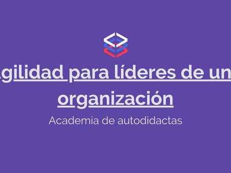 Agilidad para líderes de una organización