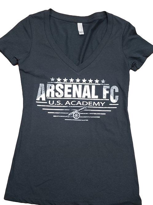 Item# 21(A) - Ladies Black V-Neck (Arsenal FC)