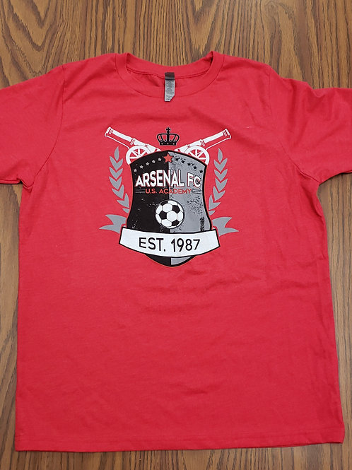 Item# 13 Red T-Shirt Adult & Youth (Est 1987)