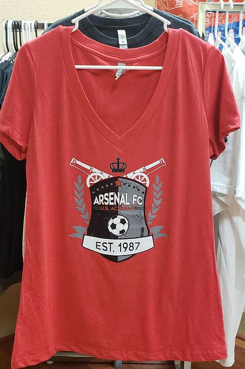 Item# 11(B) - Ladies Red V-Neck (Est 1987)