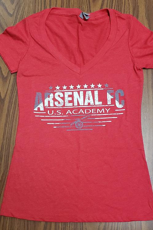 Item# 21(B) - Ladies Red V-Neck (Arsenal FC)