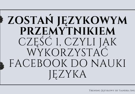 ZOSTAŃ JĘZYKOWYM PRZEMYTNIKIEM - część 1, czyli jak wykorzystać Facebook do nauki języka
