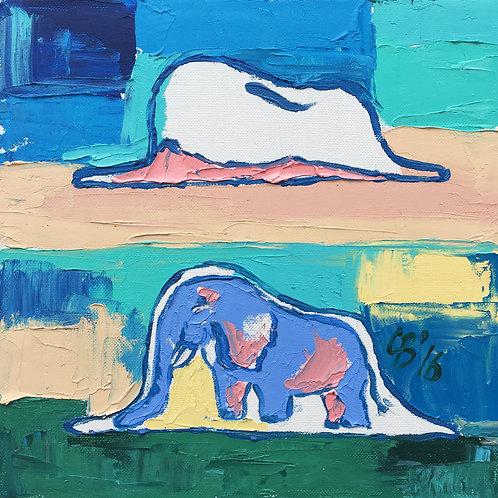 """Слон в удаве """"Маленький принц"""" (холст, масло)"""