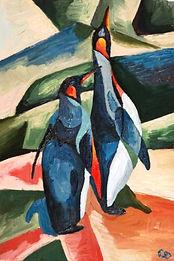 кубизм анимализм пингвины животные