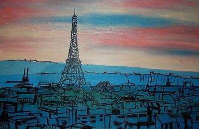 вид из окна в париж