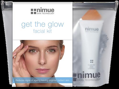 """nimue """"Get the Glow"""" facial kit"""