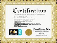 FIDO U2F Certificate 20161026.png