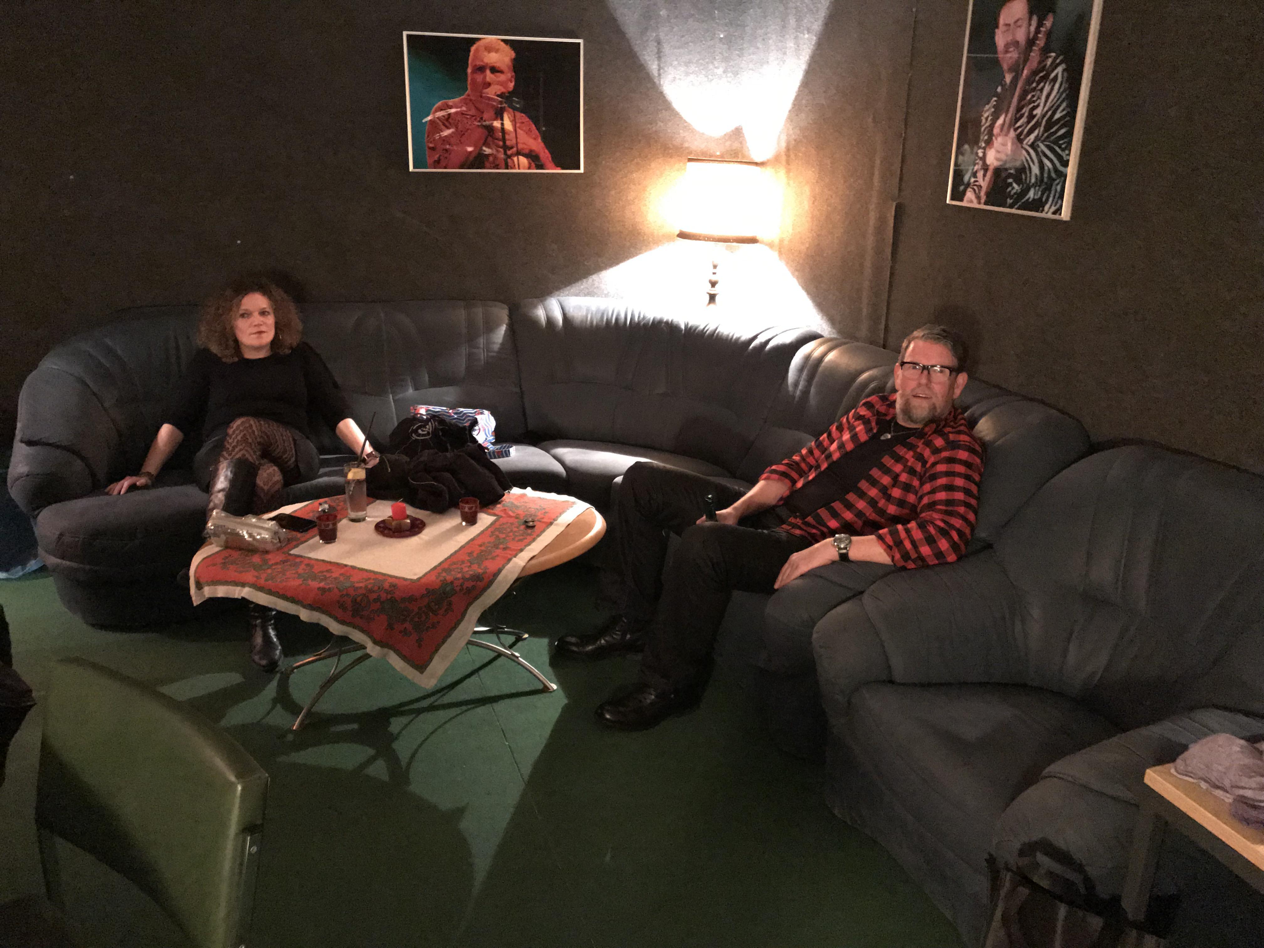Backstage chillen