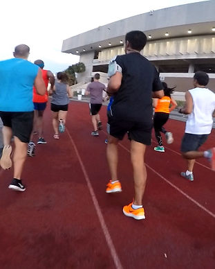 People running on the track