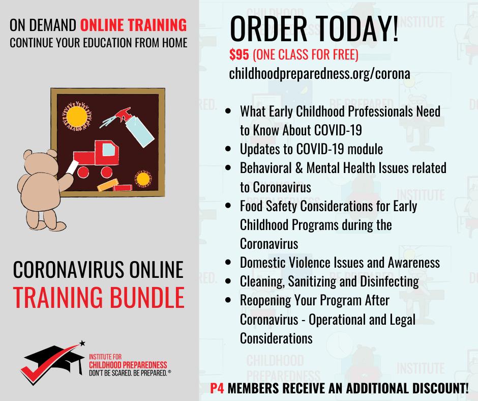 covid19, coronavirus, training, online training, pandemic, childcare, early childhood, child care program, child care provider, daycare, preschool, prek, teacher