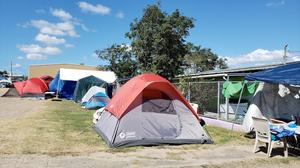 tent city, puerto rico, tents, earthquakes, earthquake
