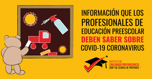 covid-19, coronavirus, spanish, spanish training, spanish online training, informacion que los profesionales de educacion preescolar deben saber sobre