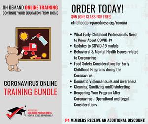 covid-19, coronavirus, pandemic, online training, online course, childcare, childcare provider, daycare, preschool, prek, ece, early childhood
