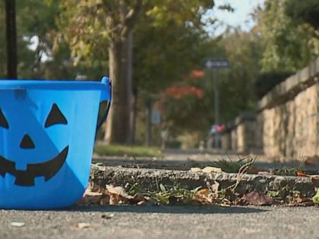 Keep an Eye Out for Blue Trick-or-Treat Buckets on Halloween Night
