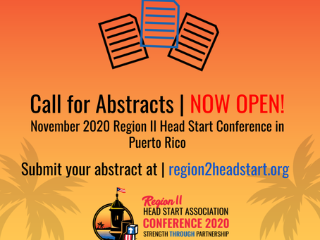 2020 Region II Head Start Conference: Call For Abstracts Now Open!