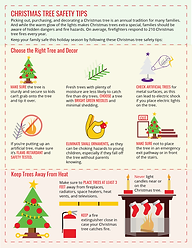 christmas tree safety tips info-graphic