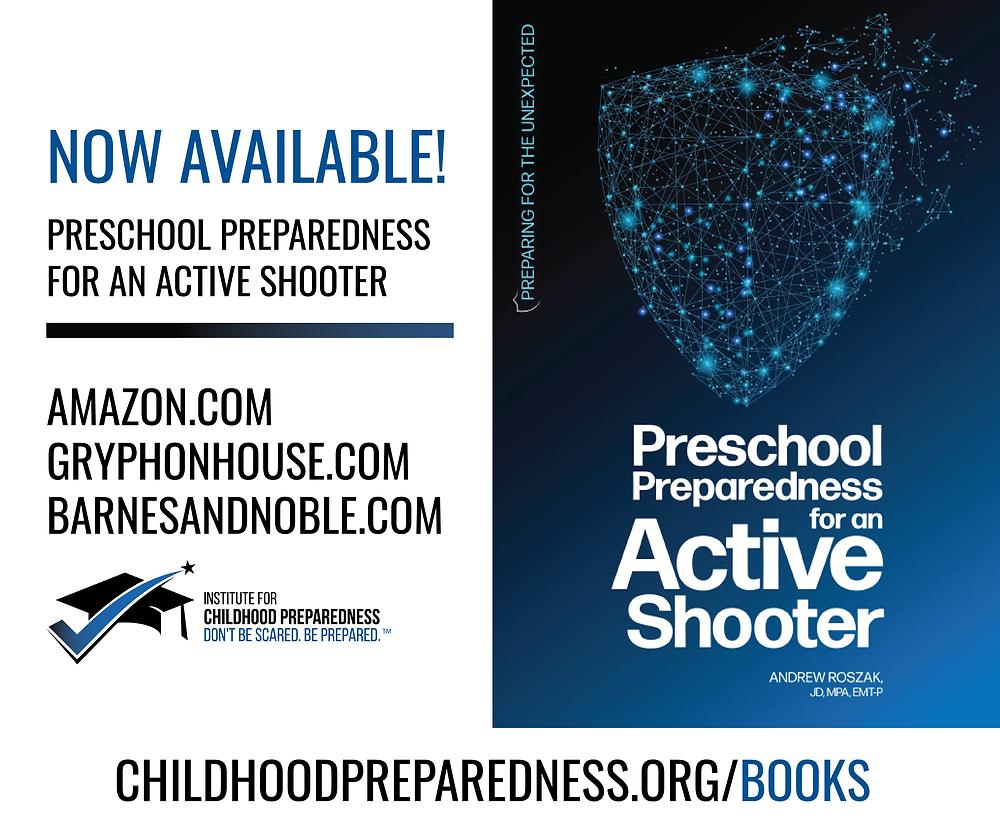 book, preschool, preparedness, for, an, active shooter, preschool preparedness for an an active shooter, childcare, child care, daycare, prek, ece, teacher, classroom, safety
