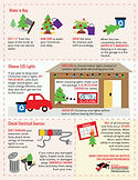 christmas tree and decor safety info-graphic