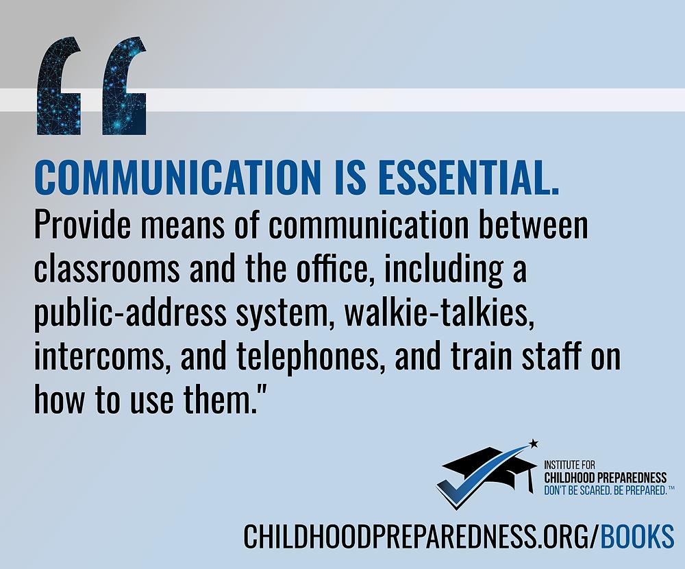 book, quote, book quote, communication, preschool, preparedness, active shooter, active shooter preparedness, active shooter response, prek, daycare, childcare, childcare providers