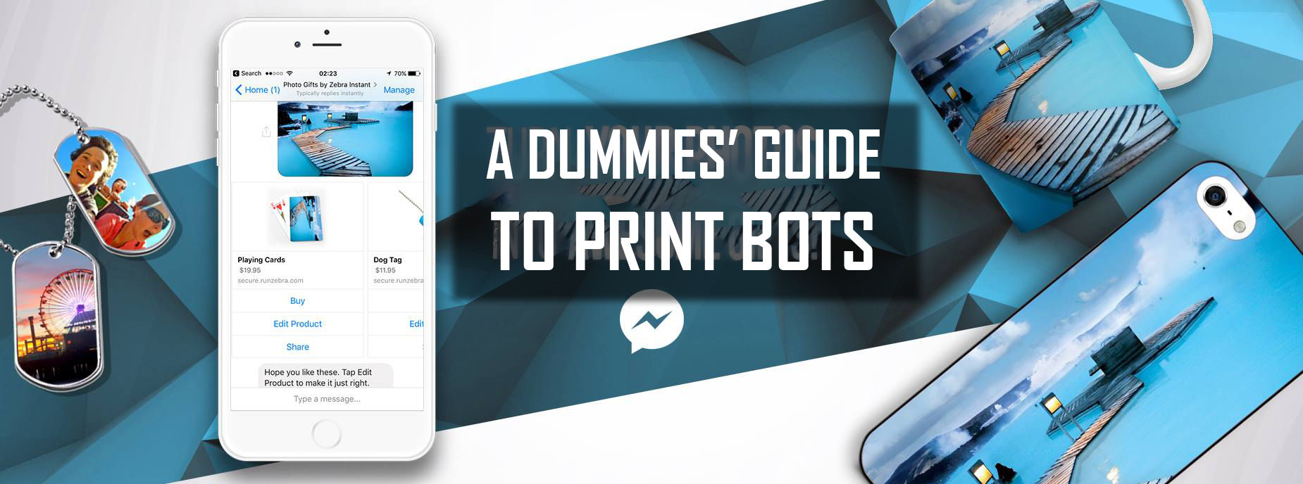 a dummies guide to print bots chatbots for printed products