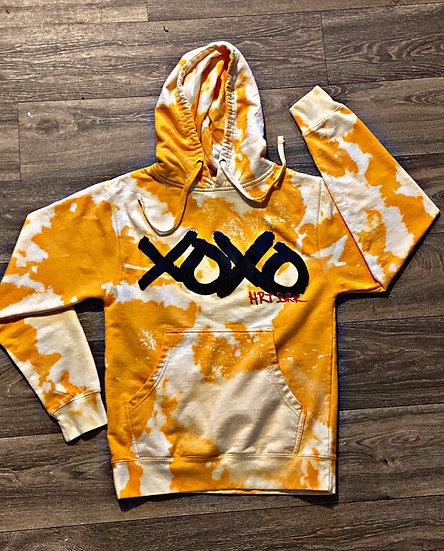 Xoxo (bleach dye) hoodie