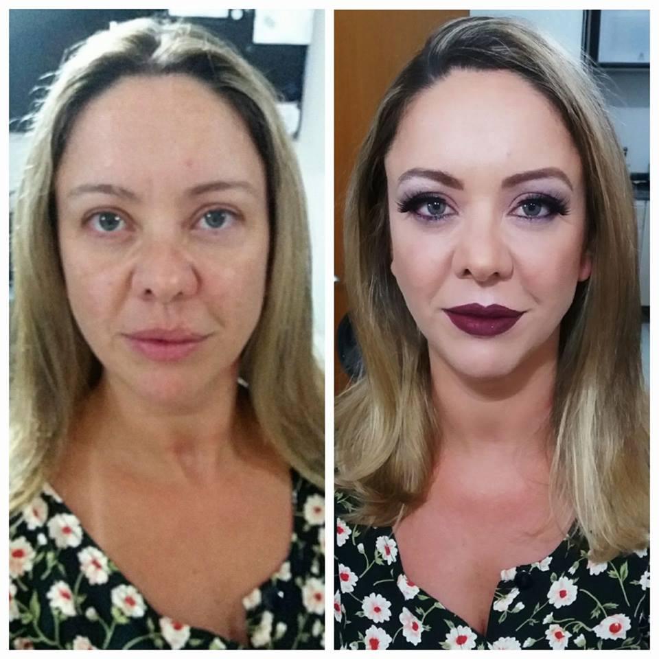Andrea Kaminski (antes e depois)