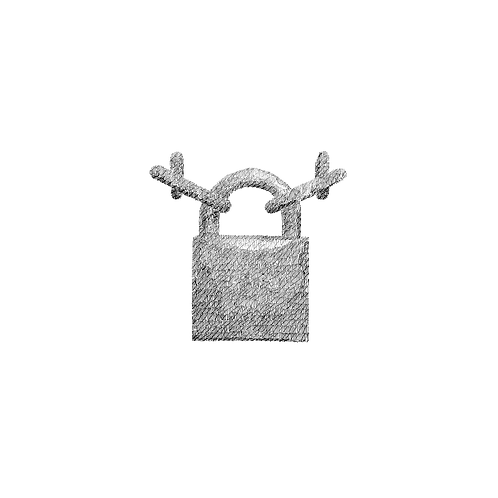 Padlock #2 (Love Locked) FRAMED -  By Gary Mansfield