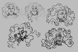 Zombie design portrait