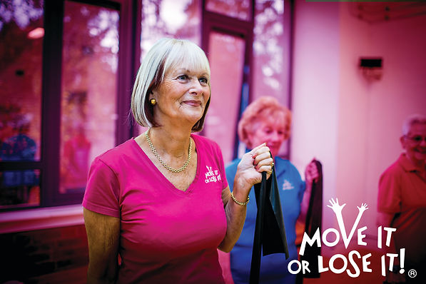 Exercise class for the elderly, older people over 60's Ilkley, Skipton, Yorkshire