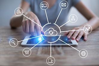 Cloud technology. Data storage. Networki