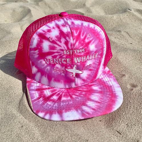 Pink Tie Dye Whaler Trucker Hat (Women's)