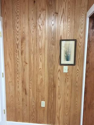 Ash V-panel wall