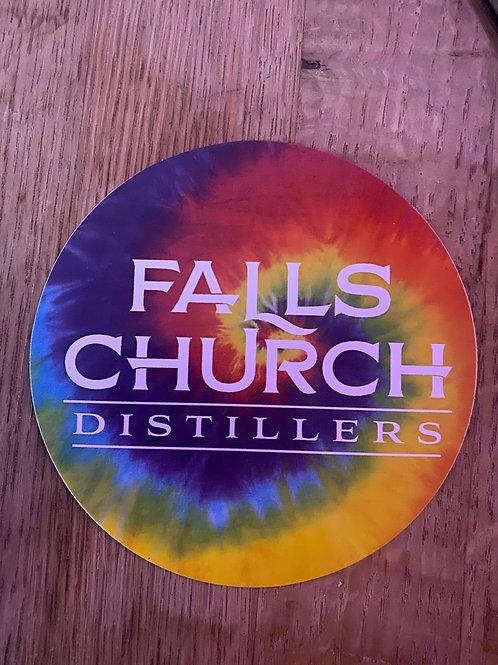 Falls Church Distillers Tie Dye Sticker