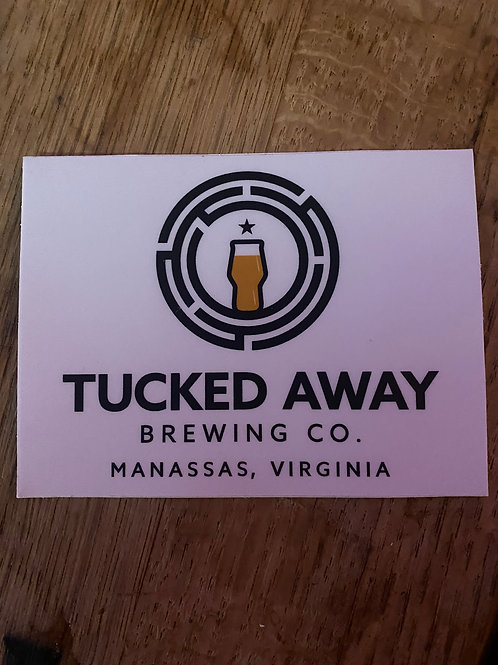 Tucked Away Brewing Co. Sticker