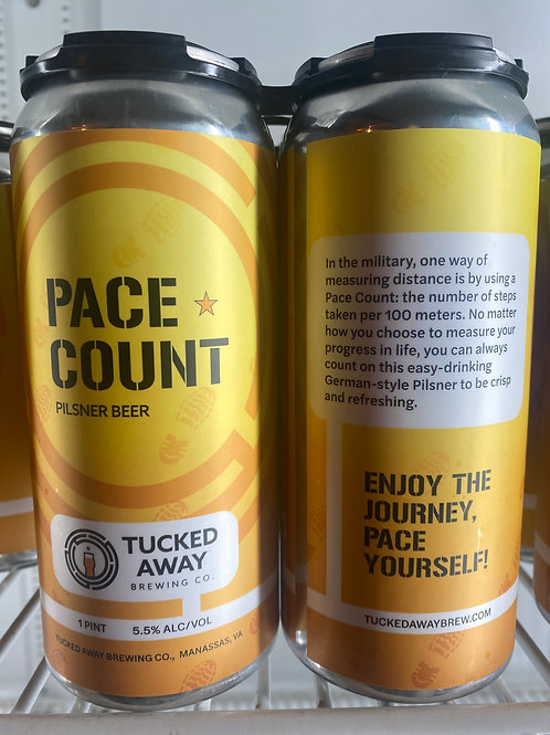 Tucked Away Brewing Co. | Pace Count Pilsner | 4-Pack