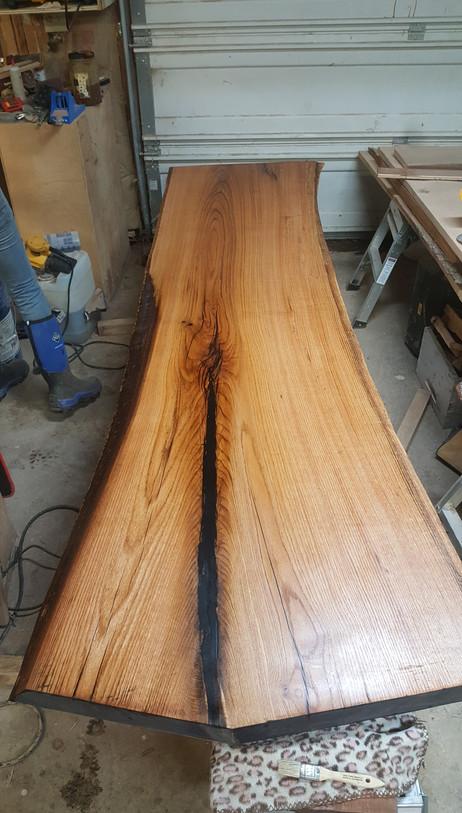 natural finished oak slab tab