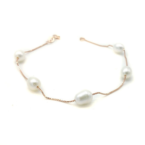 Minimalist Freshwater Pearl Bracelet