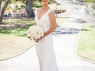Real Bride Kylie in Whispering Sweetness Gown by Jennifer Go Bridal